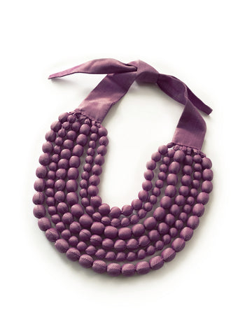 Berry Silk Multi Strand Necklace