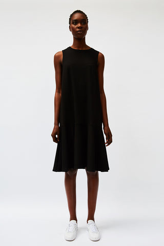 Black Fluted Midi Dress (was $149) - Last two! (S)