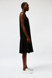 Black Fluted Midi Dress - Last two! (S)