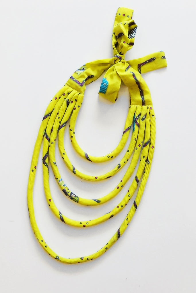 WEFTshop x The Social Outfit Dragstar Yellow Ya Ta Kon Necklace