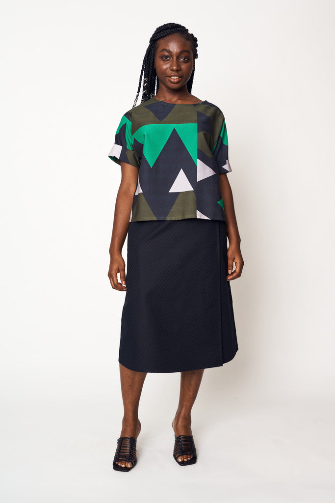 Abstract Forest Scoop Top