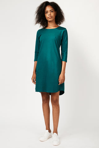 Dorsu x The Social Outfit Teal Cropped Sleeve Dress