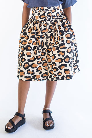 Leopard 80s Skirt - Last one! (XS)