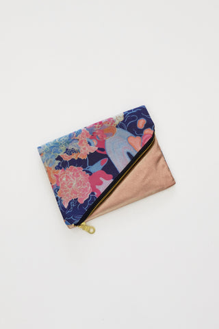 Louise Zhang Foldover Purse (Rose Gold)