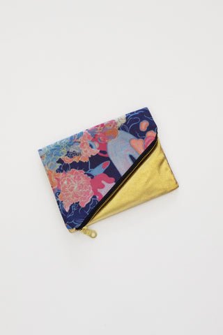 Louise Zhang Foldover Purse (Gold)