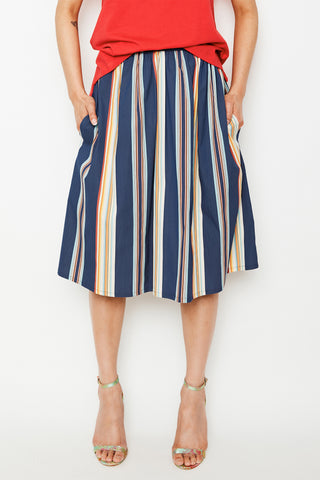 Sunny Stripe Gathered Skirt (was $169)