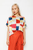 Colourblock Scoop Top