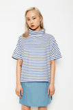 Nautical Stripe Roll Neck Top (was $179)