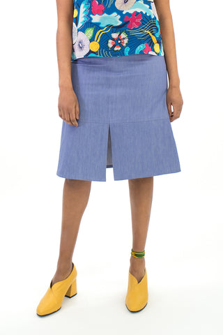 Lilac Panelled Midi Skirt (was $179)