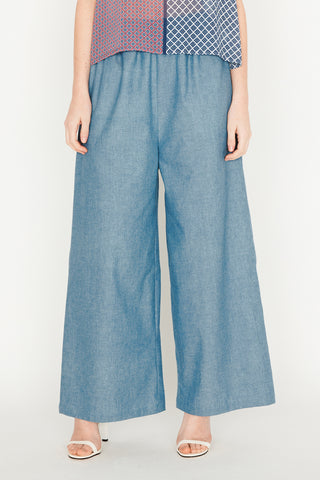 Chambray Relaxed Trousers