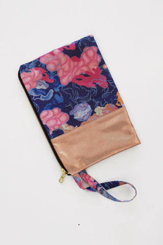 Louise Zhang Spliced Clutch (Rose Gold)