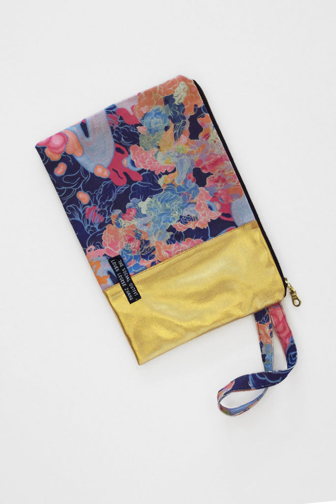 Louise Zhang Spliced Clutch (Gold)