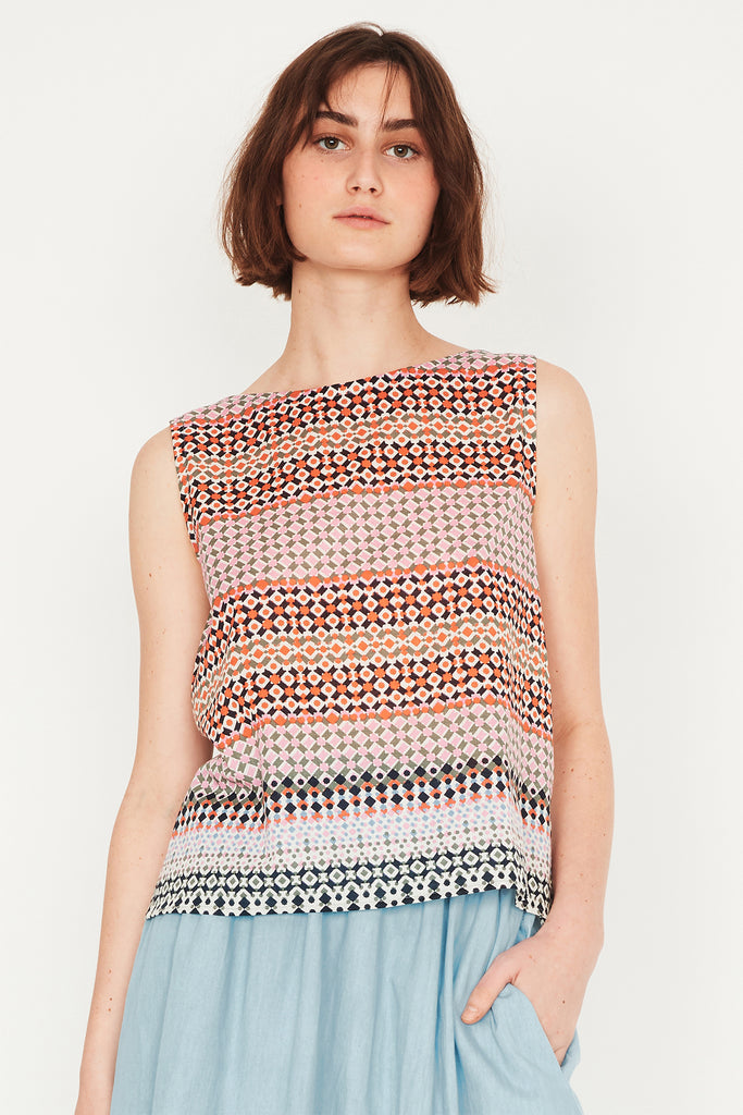 Mosaic Shell Top
