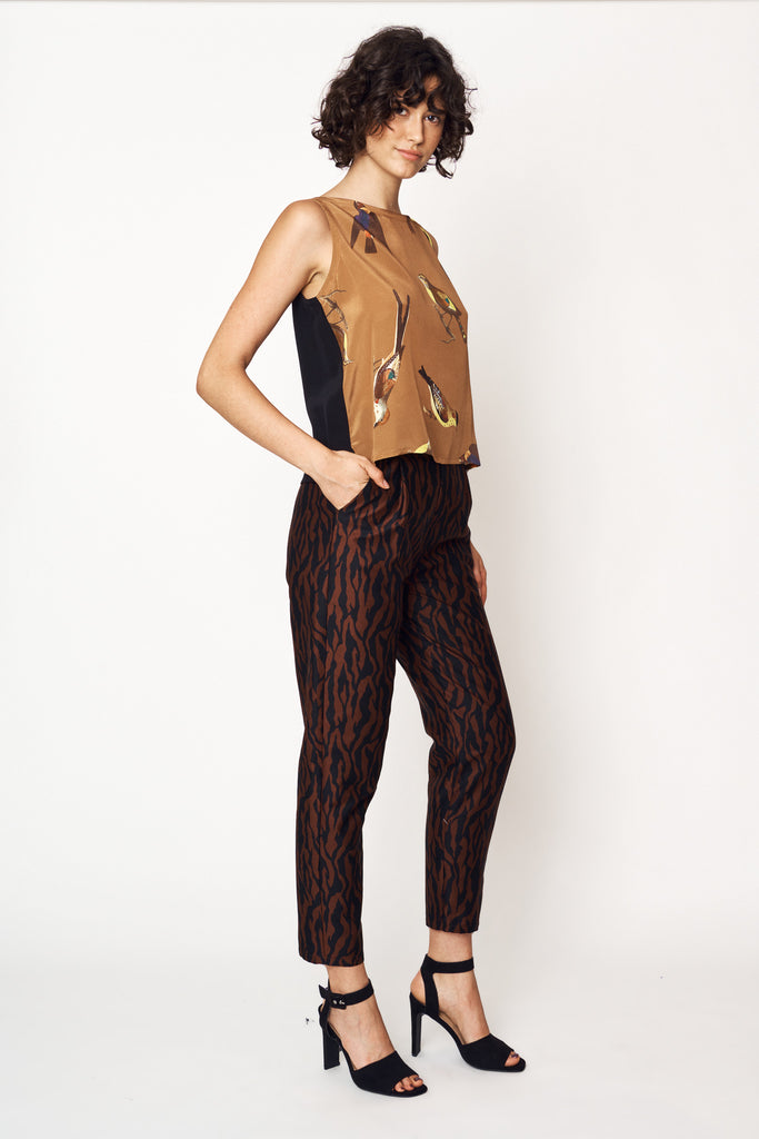 Tiger Stripe Straight Leg Pants