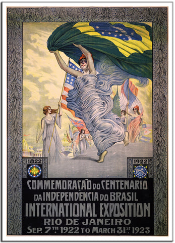 100TH ANNIVERSARY - INDEPENDENCE OF BRAZIL 1922 - Brazil - Vintage Print-Poster-Elysiumprints