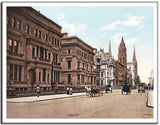 5th Avenue at 51st Street - US Streets Scene - Vintage re-print - 1900-Poster-Elysiumprints