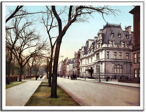 5th Avenue At 65th Street - US Streets Scene - Vintage re-print - 1901-Poster-Elysiumprints