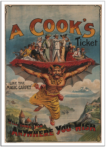 A COOKS TICKET WILL TAKE YOU ANYWHERE YOU WISH by Alex K. Sutton 1907-Poster-Elysiumprints