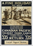 A FINE HOLIDAY AT SEA with Canadian Pacific - 1930 - Travel Poster-Poster-Elysiumprints