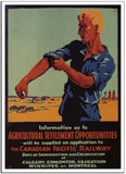 AGRICULTURAL SETTLEMENT OPPORTUNITIES - 1933 - Vintage Government Poster-Poster-Elysiumprints