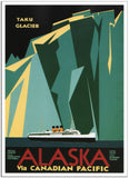 ALASKA VIA CANADIAN PACIFIC by CJ Greenwood - 1936 - Canadian Pacific-Poster-Elysiumprints