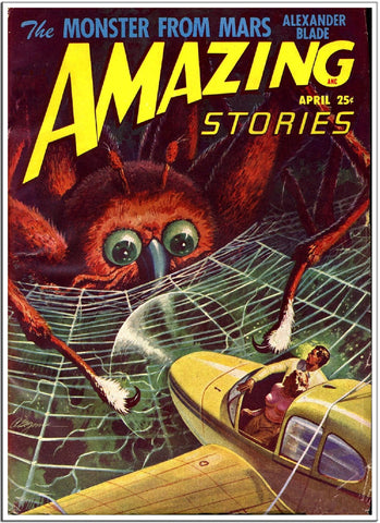 Amazing Stories - Comic Book Cover Monster from Mars-Poster-Elysiumprints