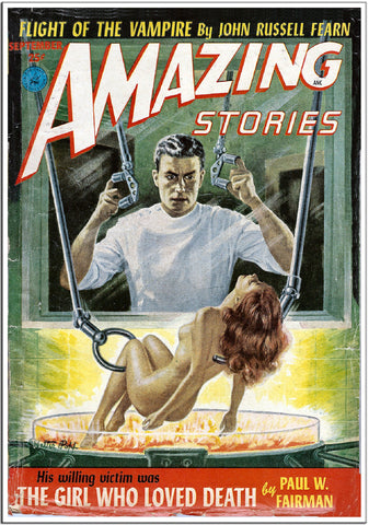 Amazing Stories - Sci-Fi Comic Book Cover - April 1936-Poster-Elysiumprints