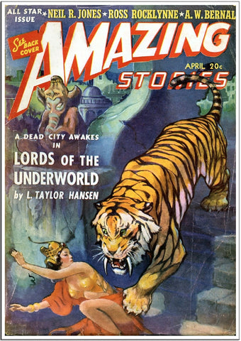 Amazing Stories - Sci-Fi Comic Book Cover - April 1951-Poster-Elysiumprints