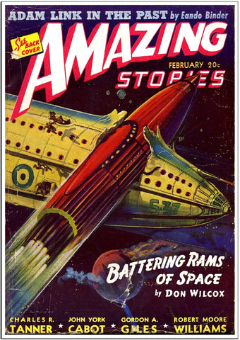 Amazing Stories - Sci-Fi Comic Book Cover - Feb 1955-Poster-Elysiumprints