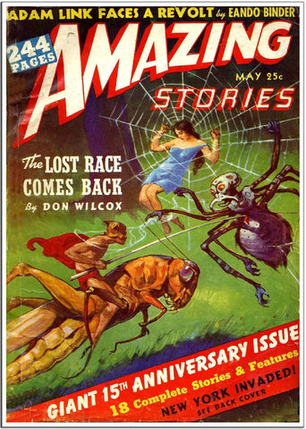 Amazing Stories - Sci-Fi Comic Book Cover - Mar 1951-Poster-Elysiumprints