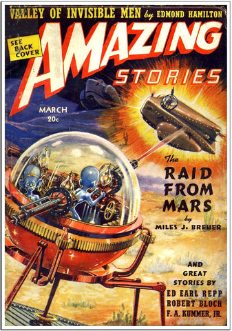 Amazing Stories - Sci-Fi Comic Book Cover - Mar 1952-Poster-Elysiumprints