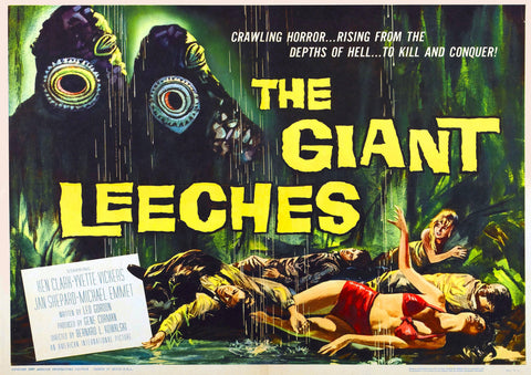 Attack of the Giant Leeches SciFi Movie Poster - 1959-Poster-Elysiumprints
