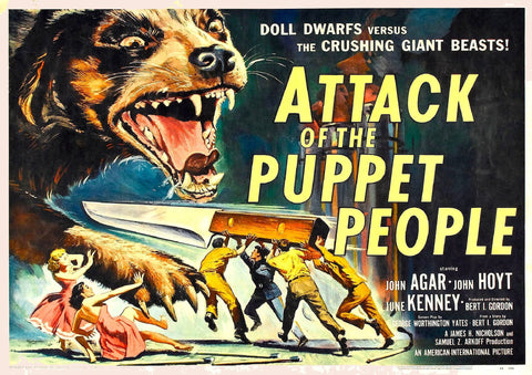 Attack Of The Puppet People SciFi Movie Poster - 1958-Poster-Elysiumprints
