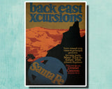 BACK EAST XCURSIONS - 1924 - Vintage Railway Poster USA-Poster-Elysiumprints