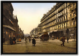 Cannebire And Hotel De Louvre - Marseilles, France - European Street Scenes-Poster-Elysiumprints