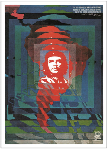 DAY OF THE HEROIC GUERRILLA CHE GUEVARA - 1968 - Cuba - Vintage Poster-Poster-Elysiumprints