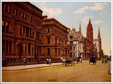 Fifth Avenue at 51st Street - US Streets Scene - Vintage re-print - 1900-Poster-Elysiumprints