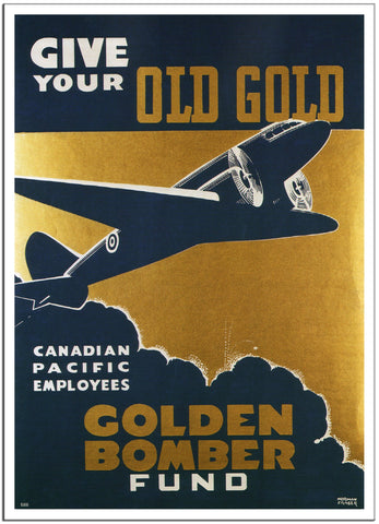 GIVE YOUR OLD GOLD by Norman Fraser - 1940 - Canadian Pacific Poster-Poster-Elysiumprints