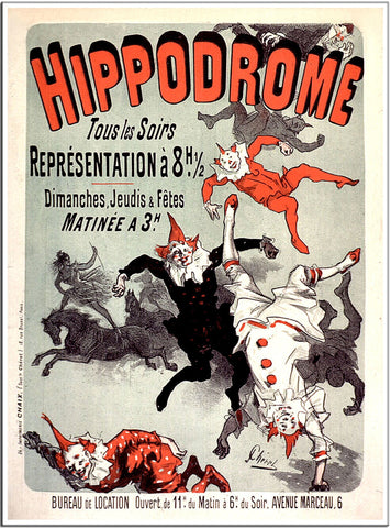 Hippodrome - 1885 - Vintage French Advertising Print-Poster-Elysiumprints