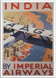 INDIA BY IMPERIAL AIRWAYS - 1929 - Vintage Airline Poster United Kingdom-Poster-Elysiumprints