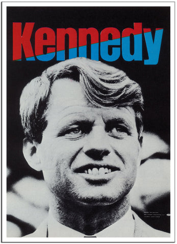 JOHN F KENNEDY - 1968 - United States Vintage Poster-Poster-Elysiumprints