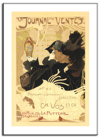 Journal Des Ventes - 1902 - Vintage French Advertising Print-Poster-Elysiumprints
