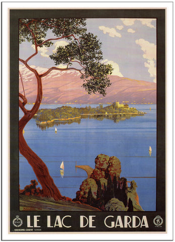 LAKE GARDA Italy Travel Poster by Severino Trematore 1928-Poster-Elysiumprints