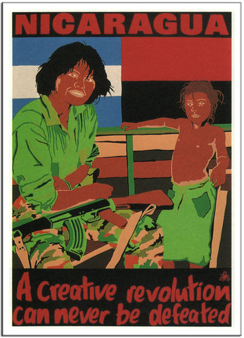 NICARAGUA. A CREATIVE REVOLUTION CAN NEVER BE DEFEATED - 1984 - Australia-Poster-Elysiumprints
