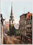Old South Church Boston - US Streets Scene - Vintage re-print - 1900-Poster-Elysiumprints