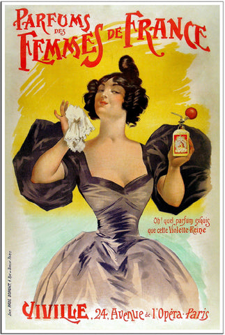 Parfums de Femmes de France - 1902 - Vintage French Advertising Print-Poster-Elysiumprints