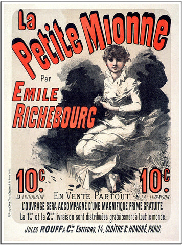 Petite Mionne - 1884 - Vintage French Advertising Print-Poster-Elysiumprints
