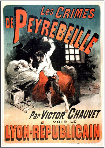 Peyrebeille - 1885 - Vintage French Advertising Print-Poster-Elysiumprints