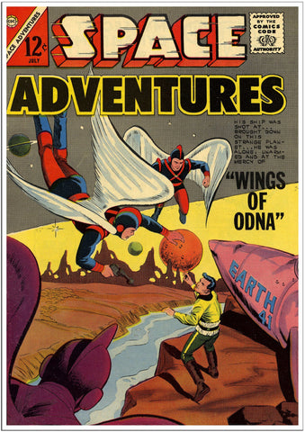 Space Adventures Wings of Odna Sci-Fi Comic Cover-Poster-Elysiumprints