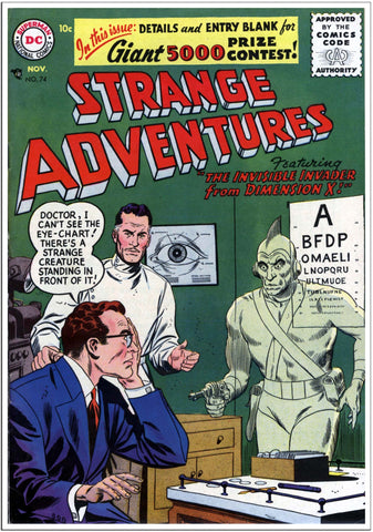 Strange Adventures - Sci-Fi Comic Book Cover Nov 1951-Poster-Elysiumprints